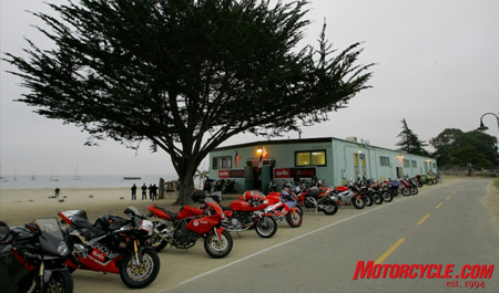 The Aprilia beach party saw the U.S. debut of the auto-tranny Mana.