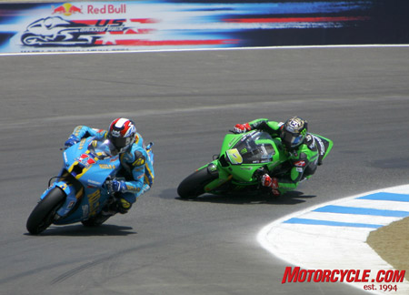 AMA Superbike regulars Ben Spies and Jamie Hacking were both impressive in their USGP wildcard appearances.