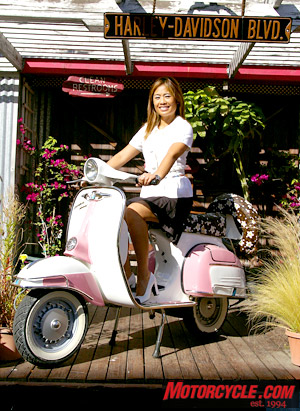 Customer Crystal Chaunsumlit, an account executive with Swiss watch manufacturer Zenith, already owns two scooters, with a third on the way, in pink, from R66R.