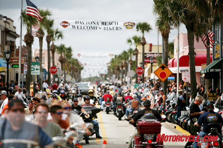 Daytona regulars declared the streets to be less crowded this year, although you couldn't tell by looking at this photo.