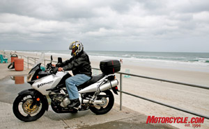 Adventure bikes, from BMW GS models to Suzuki V-Stroms, made their presence known as an up and coming market segment.