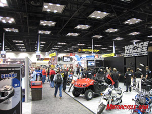 The massive Indianapolis Dealer Expo is the place where vendors show off their new products for the season.