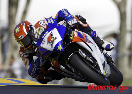 Reigning AMA Superbike champ Ben Spies continued his winning ways, bagging a double victory in last weekend�s Superbike Showdown at Infineon Raceway in Sonoma, CA. Photo by Stephen Scharf.