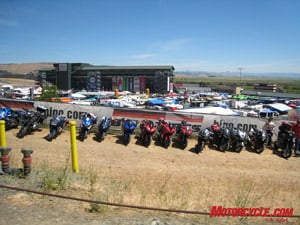 Sportbikes overflowed the packed paddock at Infineon Raceway, nestled in the hills of Sonoma wine country.