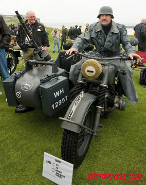 1942 BMW R75 military sidecar. Herr Johann Menefee steht zu befehl (is at your command).