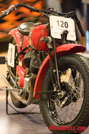 The Steve McQueen 1940 Indian Scout. A steal at $45,000.