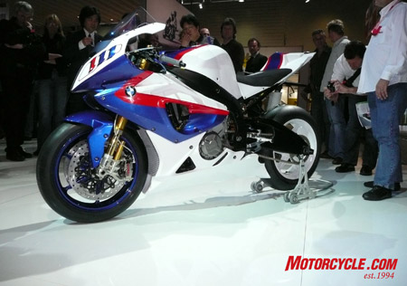 The BMW S1000RR hyper-sports bike.