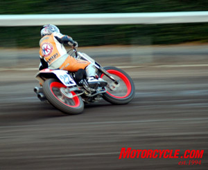 Flat track racing is slideways!