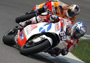 Nicky Hayden's Indy podium helped Ducati decide to pick up his option for 2010.