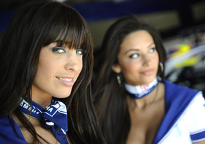 Also Italian: these Fiat Yamaha girls.