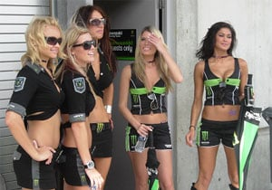 One more thing the MotoGP race had that the AMA Nationals didn't: Kawasaki Racing girls.