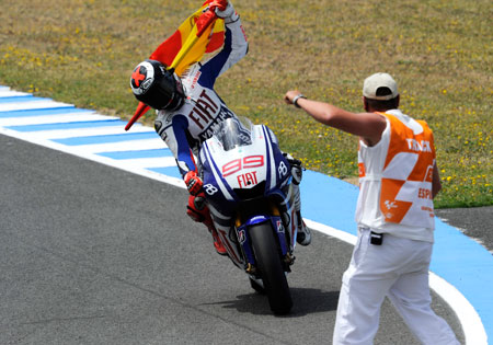 Jorge Lorenzo won the first two Spanish rounds this season, winning in Jerez and Catalunya.