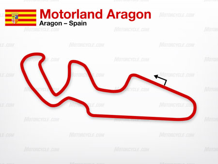 Motorland Aragon is MotoGP's official go-to track to be used in the event another circuit, such as Hungary's Balatonring, be unable to host a race.