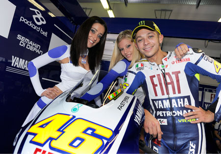 Valentino Rossi's shoulder needs a little TLC.