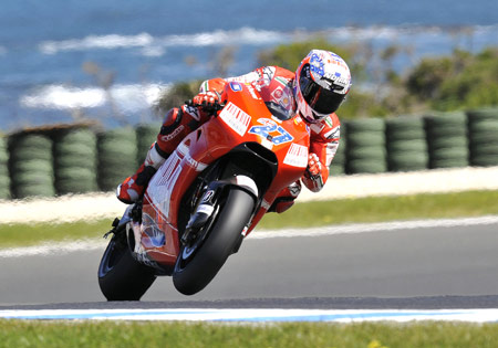 A resurgent Casey Stoner can still make a run for third while playing spoiler in the Valentino Rossi - Jorge Lorenzo championship battle.