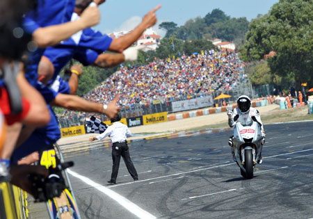 Jorge Lorenzo was victorious at last year's Portuguese Grand Prix.