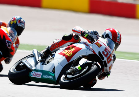 Marco Simoncelli has had a promising start to his MotoGP career, barely missing out on a podium finish in Portugal.