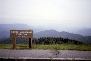 Cowee Mountain Overlook, near the top of the Parkway (5,950 feet).