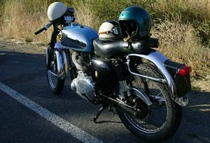 A 1962 BSA Goldstar DBD34. A classic if ever there was one.