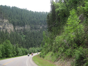 Cookin' down Spearfish Canyon.