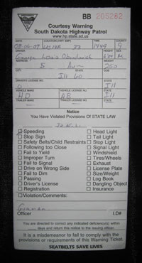 A love note from the SD State Police.