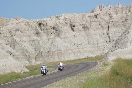 The Badlands are a 'must see'.