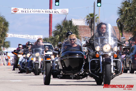 The 2009 edition of Bike Week rolls in to Daytona.