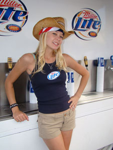 Feeling Thirsty? After a long day's dusty ride, nothing refreshes like a cool cowgirl pouring cold beverages.