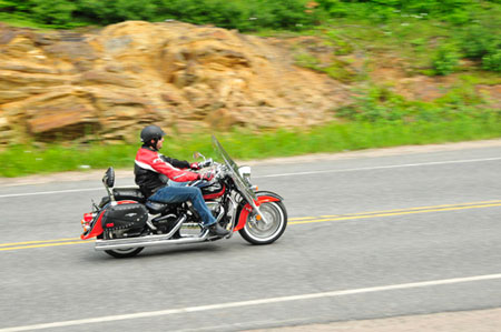 The ride from Toronto to Muskoka offers countless views of rock formations and tree-lined lakes.