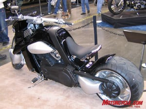 A V-Rex can be your for $43,000! It�s a bike built from a concept drawing and is now in production with a Harley V-Rod engine.