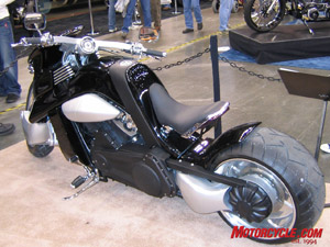 A V-Rex can be your for $43,000! It's a bike built from a concept drawing and is now in production with a Harley V-Rod engine.