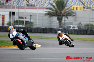 The backbone of Daytona�s motorcycle events has always been the racing action at Daytona International Speedway.