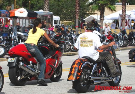 It doesn�t matter what you ride at Daytona, whether it�s during Biketoberfest or the spring fling of Bike Week.