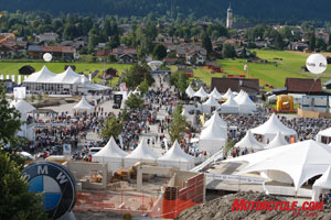 The 2007 edition of BMW Motorrad Days attracted a record crowd of more than 35,000. With this kind of scenery and the local twisty roads, it�s easy to see why.