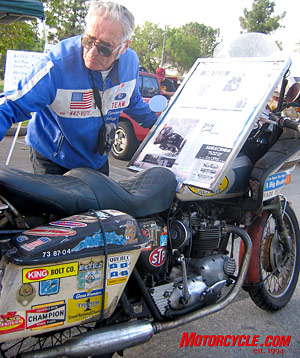Pat Owens was the lead motorcycle repair instructor at L.A. Trade Technology School for many years. Prior to that he was Gene Romero and Eddie Mulder's race mechanic. He's a helluva nice guy, too.