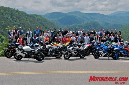 You can't have an event like the Yamaha R1/R6 Forum East Coast Convention without the obligatory group photo. (Photo by Laura Trigg)