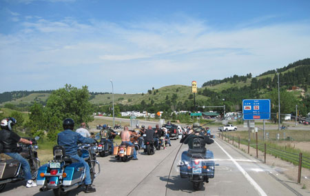 Following the crowd to Sturgis.