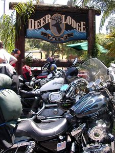 First stop - besides gas for the peanut tank - is the Deer Lodge in Ojai... to meet even more harley riders from the SoCalHarley Yahoo! group.