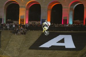 ...but when Pastrana threw the 360, even the gods shuddered!