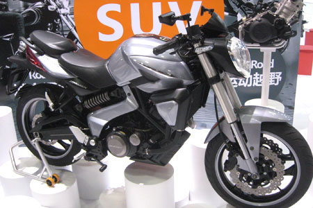 This prototype Zongshen Cyclone is an example of the ongoing evolution of the Chinese motorcycle industry and market.