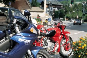 "Moto Guzzi is Italian for: ""I look just right in this setting"""