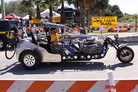 The wild and the whacky fill the streets of Daytona during Bike Week.