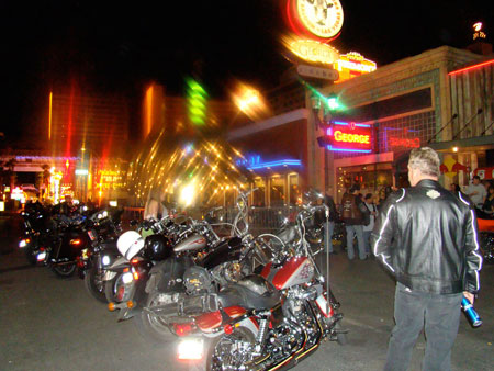 BikeFest sponsor and one of the event's unofficial watering holes, biker hangout Hogs & Heifers threw a rally after-party.