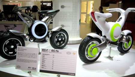 Yamaha EC-f and EC-f electric scooter prototypes.