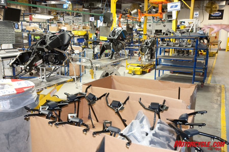 ELVIS is able to track every part of every Buell motorcycle, including the production process.