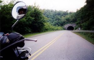 Tunnels punctuate the early parts of the Parkway. Take it easy, they're usually wet inside.