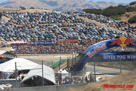 The Red Bull USGP again packed 'em in at Laguna on Sunday.