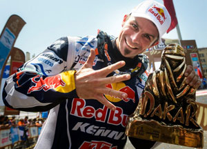 Cyril Despres Celebrated Dakar Victory