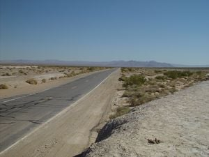Rte. 178 into Death Valley is long, straight, flat and deserted.