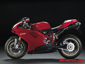 The new 1198cc 1098R is Ducati's new platform for World Superbike racing. Got a spare $39,995?